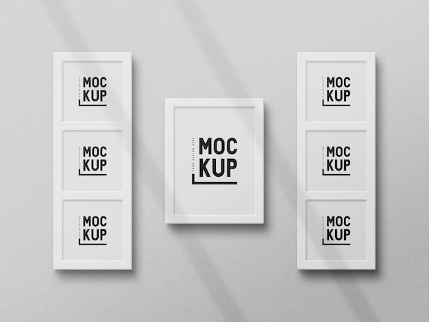 Maquete de moldura de foto minimalista