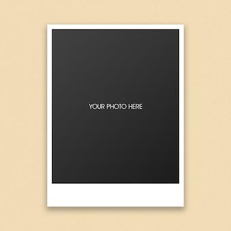 Maquete de moldura de foto polaroid