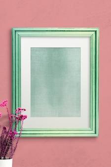Maquete de moldura de foto verde