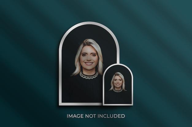 Maquete de molduras de fotos