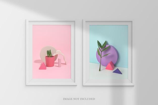 Maquete de molduras minimalistas