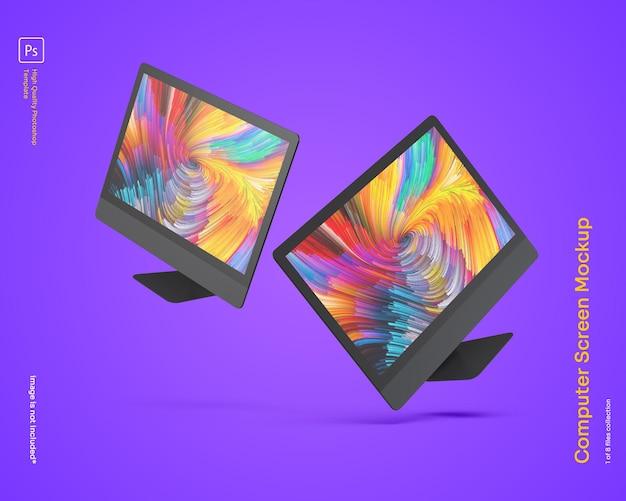 Maquete de monitor de computador