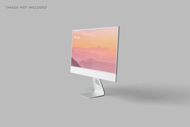 Maquete de monitor de pc minimalista