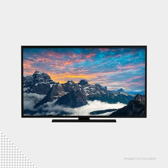 Maquete de monitor de tv de tela plana