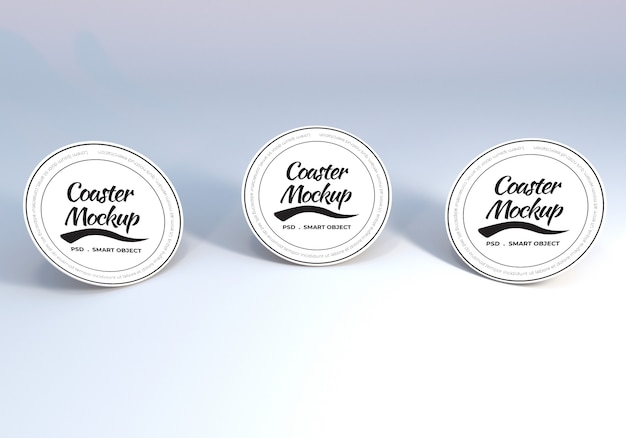 Maquete de montanha-russa de mesa circular para apresentação
