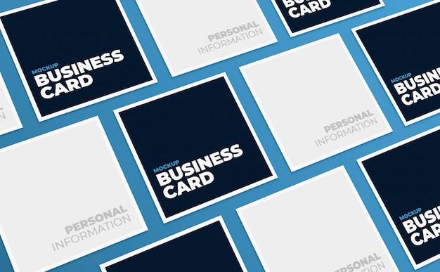 Maquete de mosaico quadrado cartões de visita