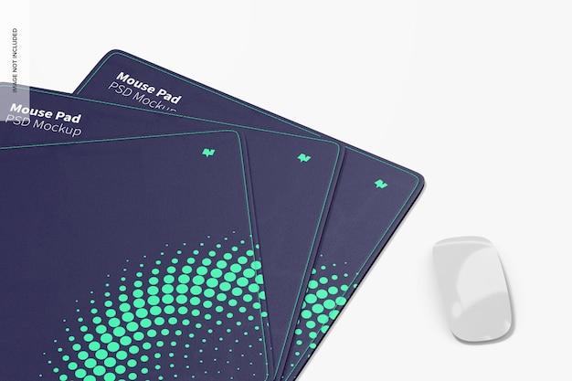 Maquete de mouse pad retangular, close-up