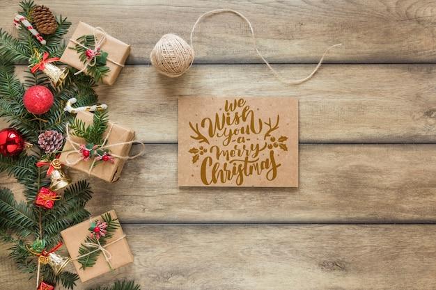 Maquete de natal com capa ou carta