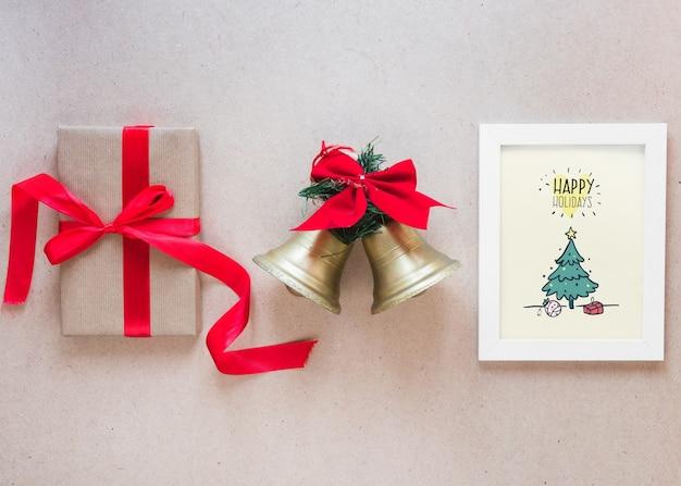 Maquete de natal com moldura
