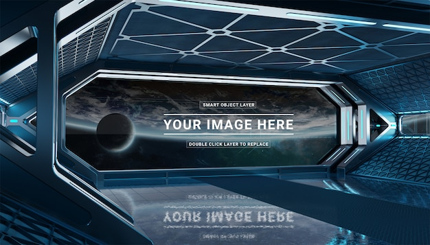 Maquete de nave espacial preta