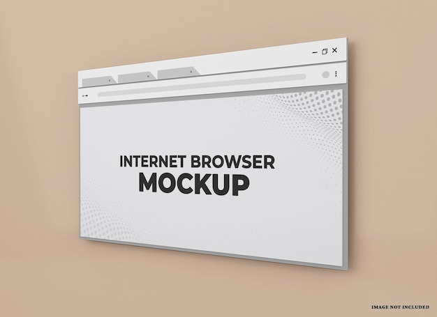 Maquete de navegador da web