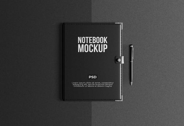 Maquete de notebook com vista superior