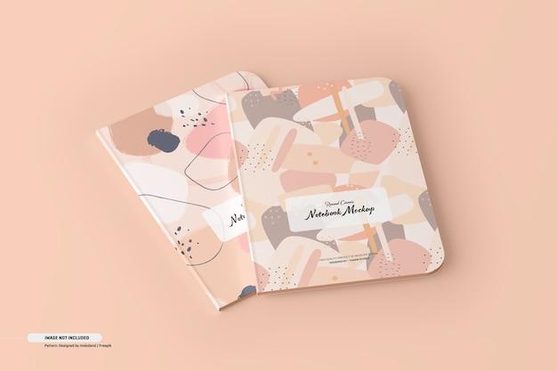 Maquete de notebook de canto redondo