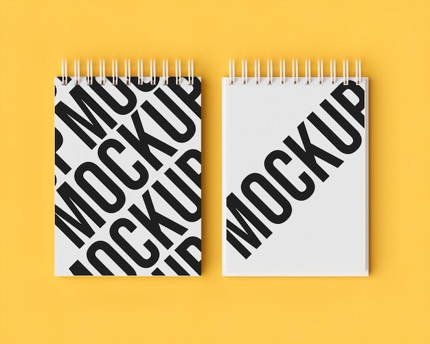 Maquete de notebook duplo