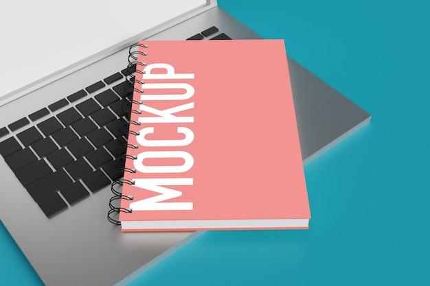 Maquete de notebook para criador de cena