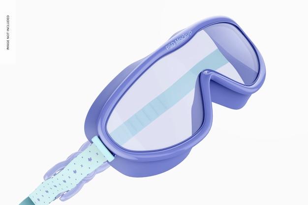 Maquete de óculos de natação, close-up