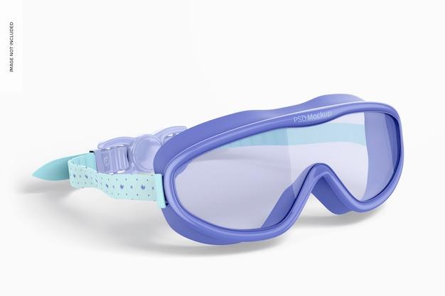 Maquete de óculos de natação