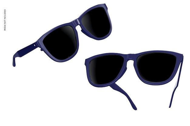 Maquete de óculos de sol flutuantes