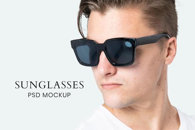 Maquete de óculos de sol psd acessórios masculinos da moda