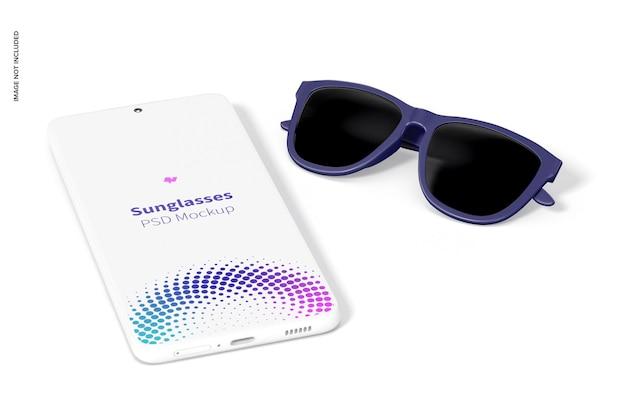 Maquete de óculos de sol, vista direita