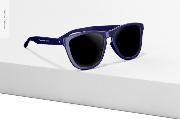 Maquete de óculos de sol, vista esquerda