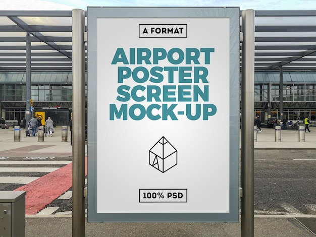 Maquete de outdoor de aeroporto
