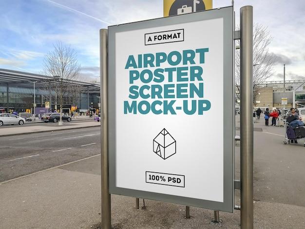 Maquete de outdoor de aeroporto Psd Premium