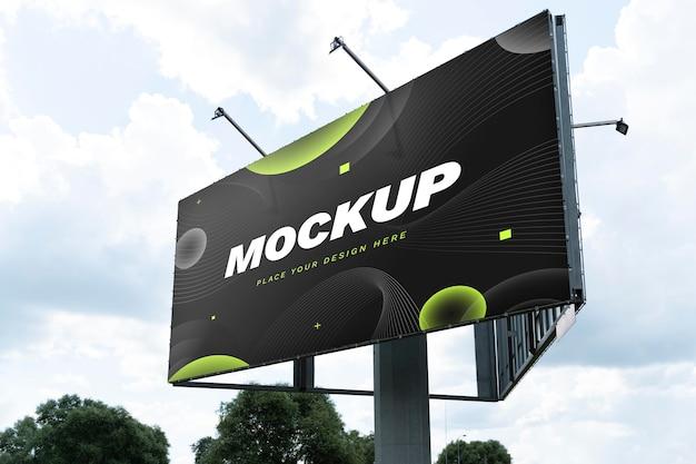 Maquete de outdoor de marketing de rua
