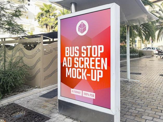 Maquete de outdoor de propaganda de parada de ônibus
