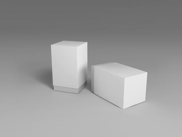 Maquete de pacote de caixa