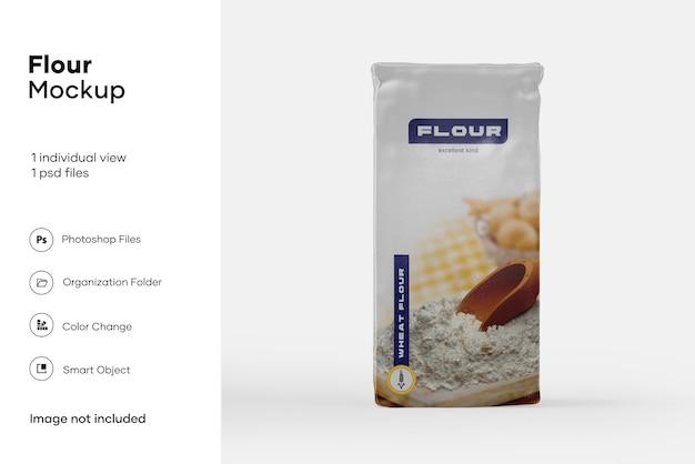 Maquete de pacote de farinha