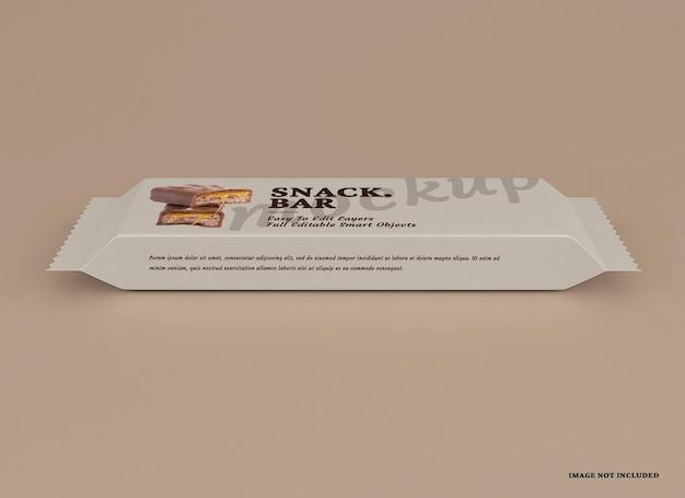 Maquete de pacote de lanchonete