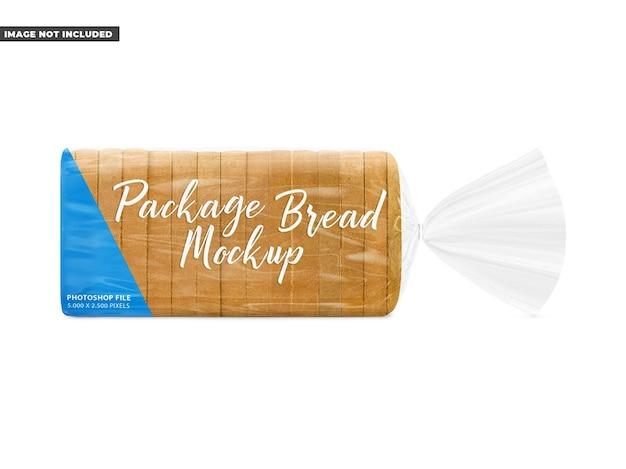 Maquete de pacote de pão