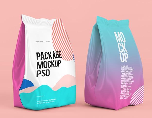 Maquete de pacote permanente com design mutável