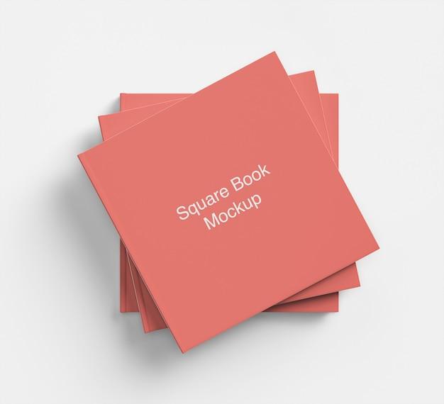Maquete de pacote quadrado de livro ou capa de revista