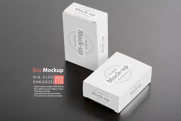 Maquete de pacotes de duas caixas de comprimidos