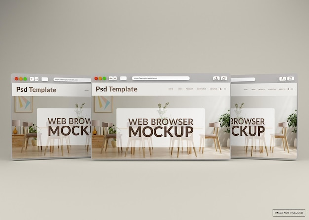 Maquete de página da web do navegador da internet