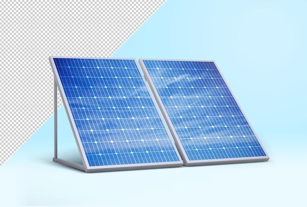 Maquete de painéis solares fotovoltaicos