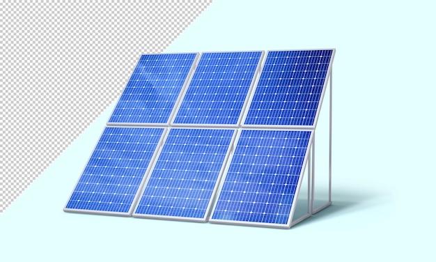 Maquete de painéis solares