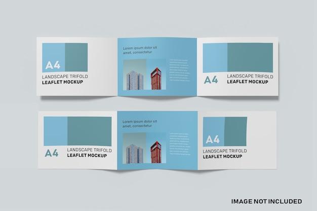 Maquete de paisagem a4 com três dobras