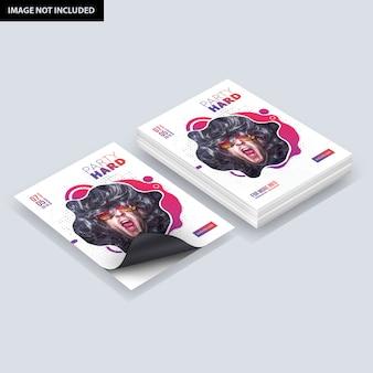 Maquete de panfleto com pilha