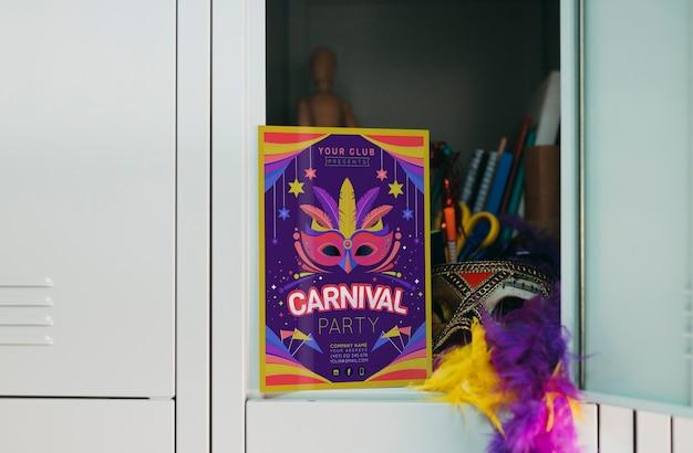 Maquete de panfleto de carnaval
