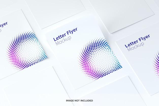 Maquete de panfleto de carta