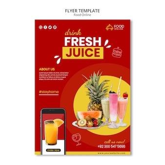 Maquete de panfleto de conceito online de alimentos