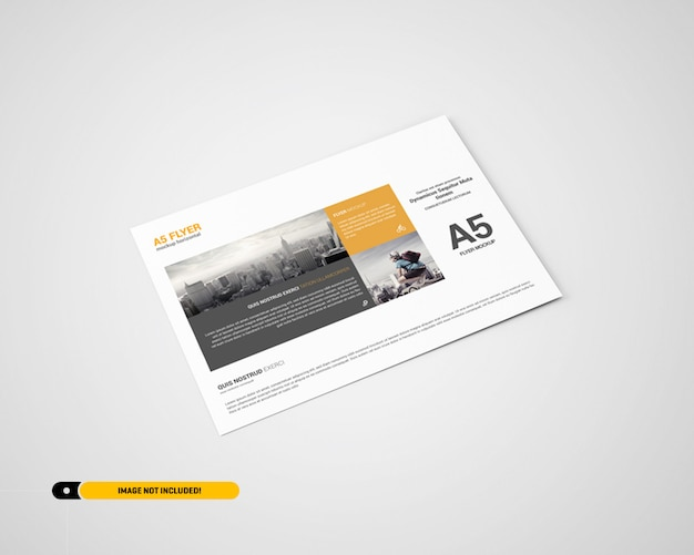 Maquete de panfleto de paisagem