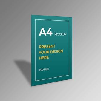 Maquete de panfleto de papel a4