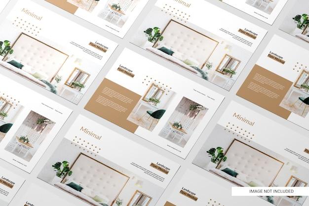 Maquete de panfleto de vista em perspectiva
