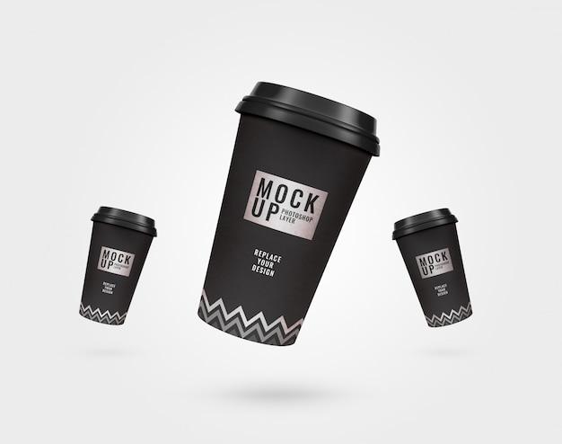Maquete de panfleto de xícara de café