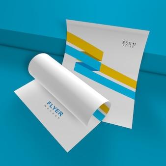 Maquete de panfleto elegante e simples