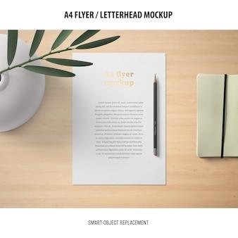 Maquete de panfleto ou papel timbrado